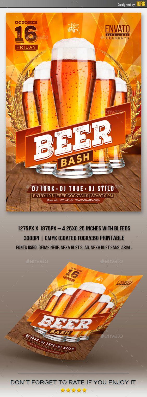beer bash flyer flyers flyer template and beer beer bash flyer template psd design graphicriver net