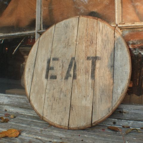 Reclaimed Wood Eat Sign