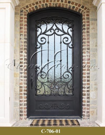 Wrought Iron Single Door Single Doors Pinterest Cas