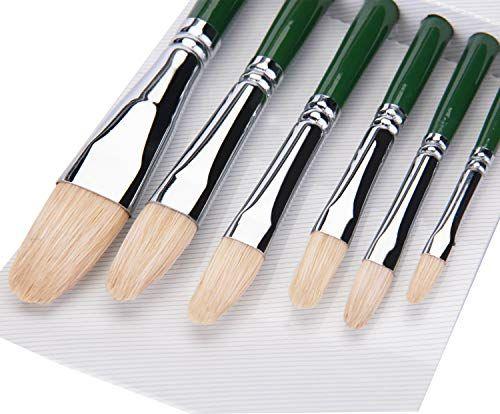 6pcs Pinceaux de Peinture Pinceaux pour Peinture /à Huile Aquarelle Peinture Acrylique