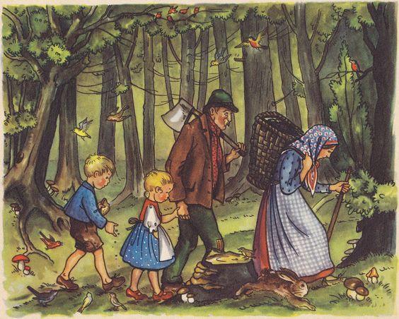 Hänsel und Gretel / Illustration 2   Gebrüder Grimm / Hänsel und Gretel Kinderbuch Pestalozzi Verlag / Deutschland ex libris MTP