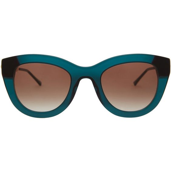 Thierry Lasry Turquoise Cupidity Sunglasses (24.115 RUB) ❤ liked on Polyvore featuring accessories, eyewear, sunglasses, glasses, thierry lasry eyewear, thierry lasry, gradient lens sunglasses, thierry lasry sunglasses and summer glasses