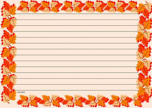 Lined paper and page borders for your English writing composition - lined page