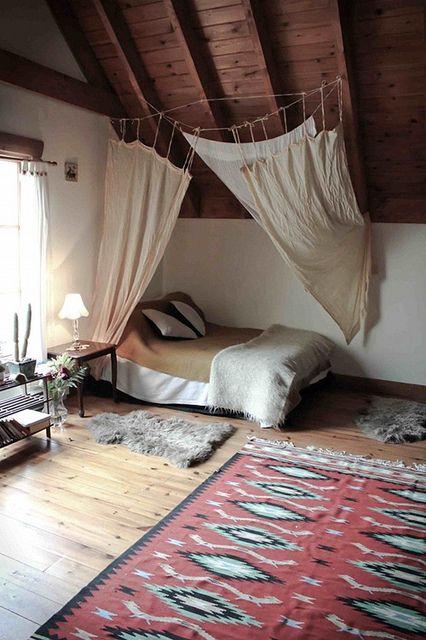 Rustic bohemian bedroom