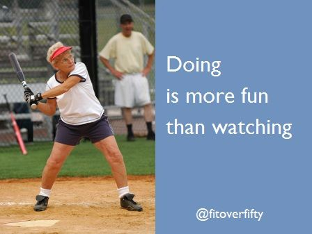 Doing is more fun than watching - at any age!