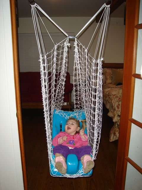 Great Idea For Indoor Swing Sensory Cvi Therapy Room