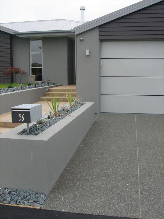 modern concrete driveway finishes - Google Search
