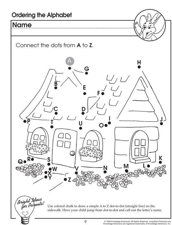 Ordering the Alphabet – Letter Worksheet for Preschoolers ...