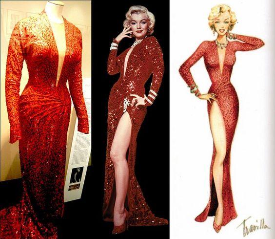 Marilyn Monroe gentlemen prefer blondes red dress (1953) . Marilyn ...