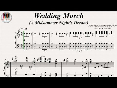 Wedding March A Midsummer Night S Dream Felix Mendelssohn Bartholdy Piano Youtube
