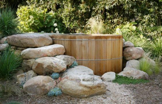 17 Best images about Bademöglichkeit im Garten on Pinterest - whirlpool im garten charme badetonne