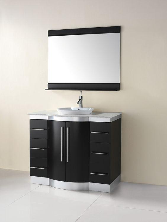 Awesome Furniture Black And White Bathroom Art Deco
