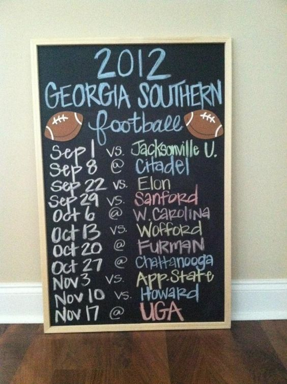 Gonna make this for Alabama's schedule this year:)