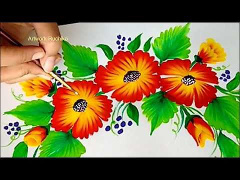 One Stroke Painting Tutorial For Beginners Acrylic Painting Youtube Acrylic Painting For Beginners Flower Painting Canvas Flower Art Painting