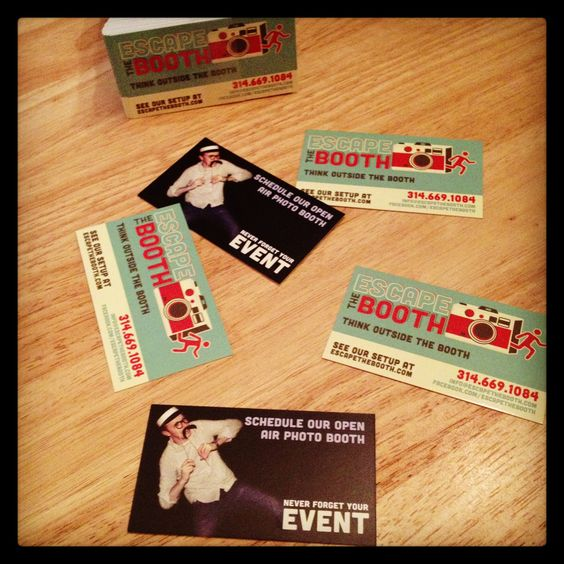 Our new photo booth business cards are in!