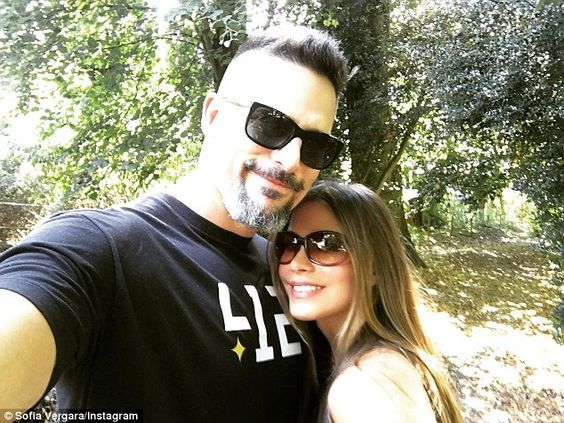 All loved-up: Sharing some snaps of her holiday with husband Joe Manganiello in the UK, Sofia took to Instagram over her stay and uploaded some sweet photos of her time in the country