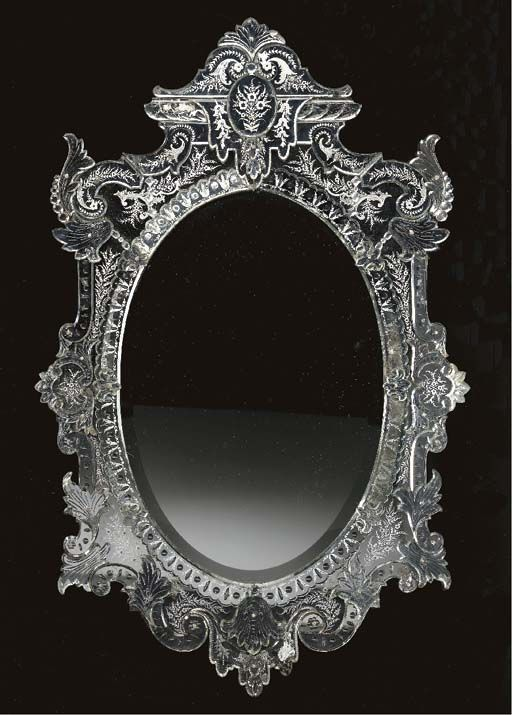 A Venetian Etched Glass Mirror 20th Century Christie S Glass Mirror Mirror Glass Etching