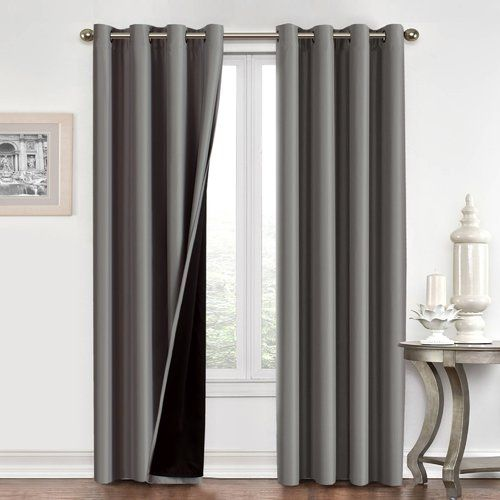 Chet Insulated Lined Solid Blackout Thermal Grommet Curtain Panels
