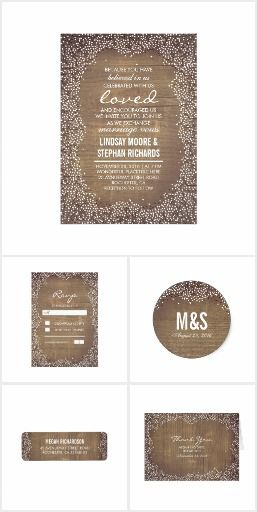 Country Rustic Baby's Breath Wedding Collection