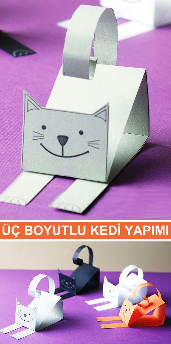 Kedi Yapimi Yeni Yurumeye Baslayan Cocuk Elisi Kids Crafts