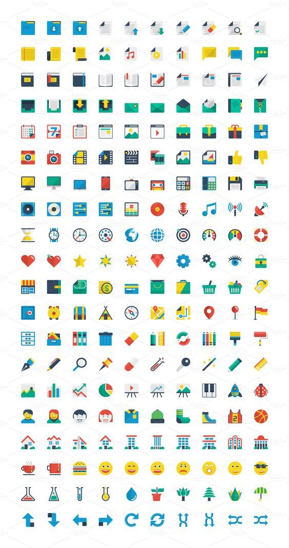 Flat Icons - Creative Market