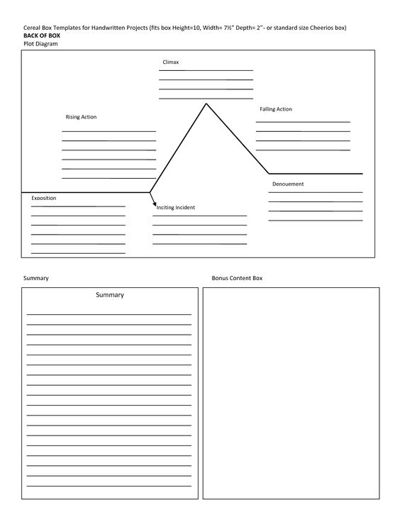 cereal box book report template Cereal Box Templates for Handwri - cereal box book report template