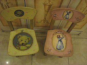 Мастер-класс по росписи детской  мебели.   Ярмарка Мастеров - ручная работа, handmade