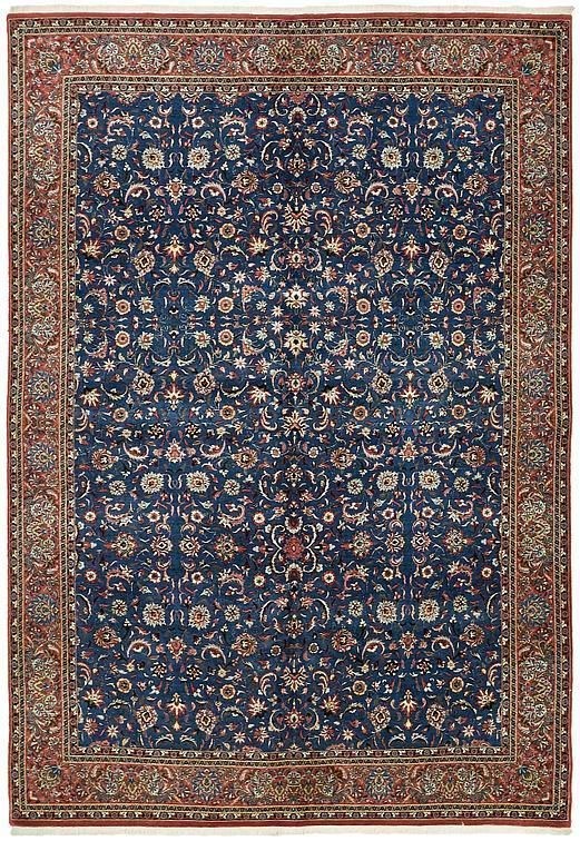 Dark Blue Bidjar Area Rug With Images Blue Persian Rug