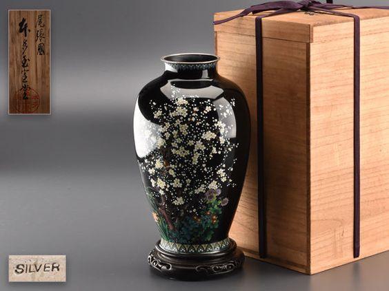 Details About Japanese Ando Cloisonne Cloissone Sakura Flowers