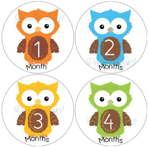 0-12 month printables | Free Printable Onesie Stickers - Monthly ...
