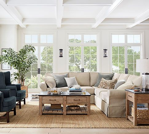 Living Room Ideas Furniture Decor Pottery Barn Classic