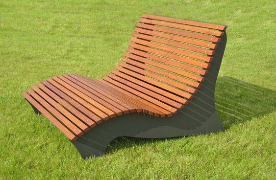 Relaxliege Garten Holz