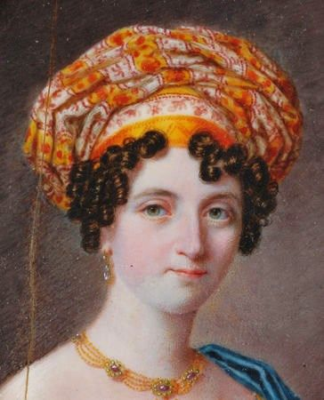 It's About Time: 1600s-1800s - A few truly fetching European turbans 1820s Miniature by Michael Theweneti