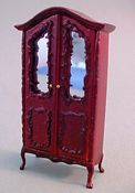 "Bespaq 1/2"" Scale Miniature ""Sweet Home"" Mahogany Baby's Armoire"