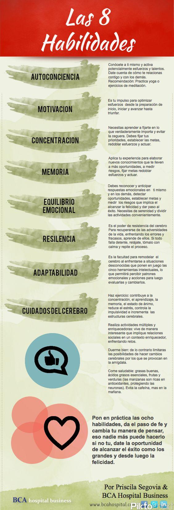 Las 8 #Habilidades :-) ¡para vivir bien!: