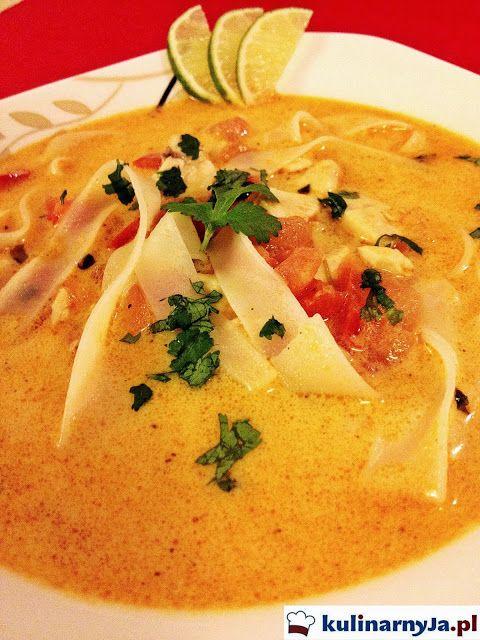 Tajska Zupa Z Mlekiem Kokosowym I Kurczakiem Orientalna Kuchnia Zupa Orientalna Kuchnia Tajska Tajskie Specjaly Zupa Z Mlekiem Healty Food Recipes Cooking