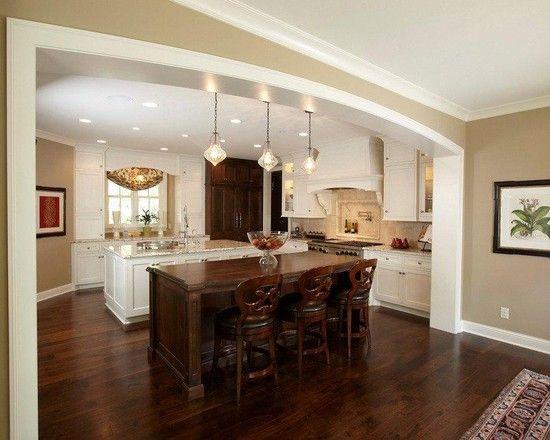 Spaces kitchen arch trim doorway design pictures remodel decor and