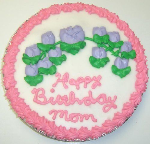 "Scotts Cakes Decorated Cookie Cake Pie with Chocolate Chip Cookie and Raspberry Cake 9"" Red Trim and Pink Flowers $21.95"