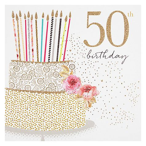 Buy Portfolio Cake 50th Birthday Card Online at johnlewis.com