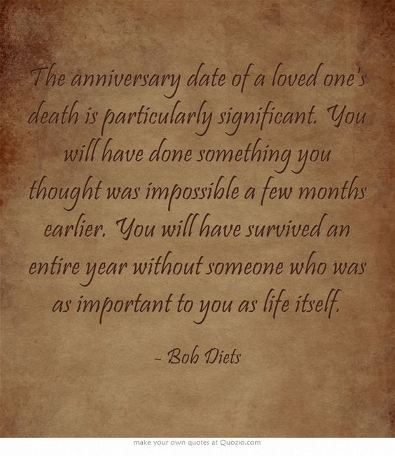 Dating a senior widower anniversary of death