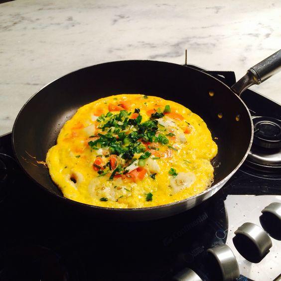 Omelete Colorido e simples