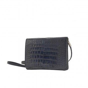 Avril Gau Chouette Blue textured bag