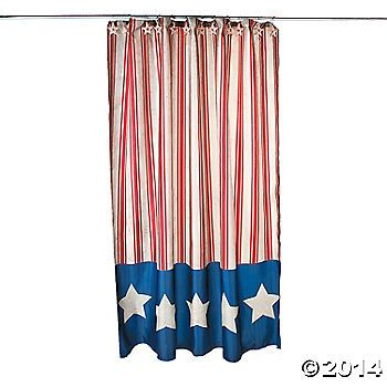 Americana Shower Curtain. Vintage stars and stripes give this ...