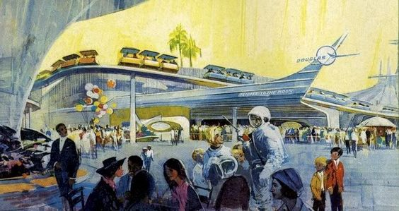 1960s tomorrowland terrace | Pictures A Selection of Disneyland Artwork