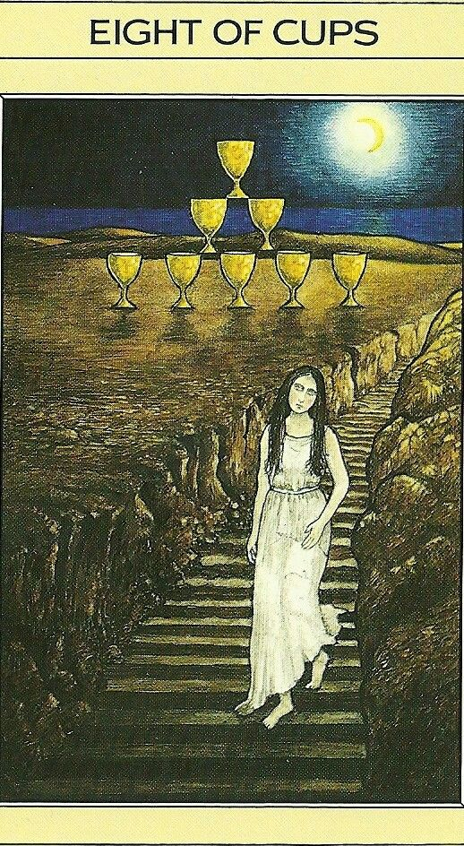 Eight of Cups - Tarot Card