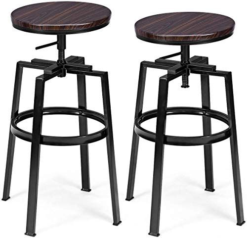 New Costway Counter Height Bar Stools Set 2 Swivel Adjustable Round Top Pub Bistro Kitchen Dining Side Chair Mental Barstools Footrest Online Totoppremiu In 2020 Pub Chairs Vintage Bar Stools Adjustable Bar Stools