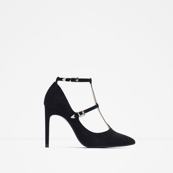 ZARA - COLLECTION SS16 - HIGH HEEL SHOES WITH ANKLE STRAPS