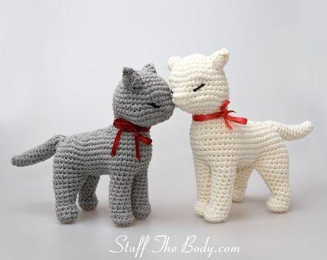 Patrón de Amigurumi gato gatito ganchillo por StuffTheBody en Etsy