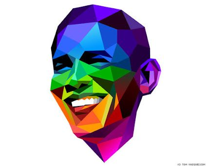 Presidente Obama Multicolor!!!@anatonia @patygallardo @elcolorcomunica