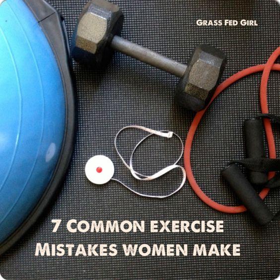 7 Common Exercise Mistakes Women Make